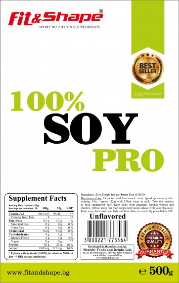 100% SOY Pro - 500g (zipper bag)