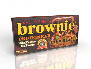 Brownie Protein Bar Caramel with Almonds & Pecans