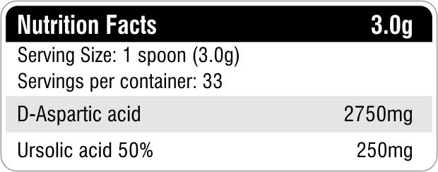 D-Aspartic acid & Ursolic Acid