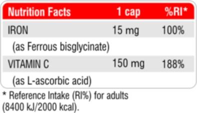 Iron Bisglycinate + Vitamin C