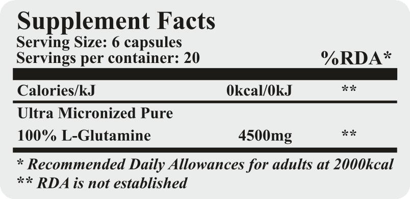 slim packs glutamine
