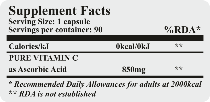 slim packs vitamin c